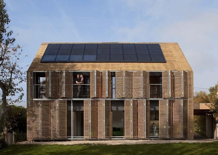 Eco-architecture: La première maison passive à Paris 巴黎首座被动式节能住宅 Green house, Architecture écologique,