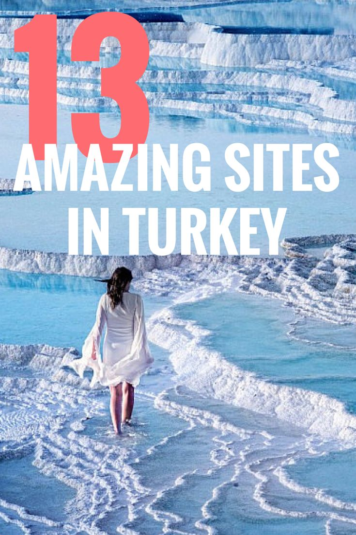 Hierapolis-Pamukkale, Turkey is one of the most beautiful places in the world. These are natural hot springs filled with calcium. You have to definitely add this to your bucket list and make this a part of your great #TurquoiseHunt.
