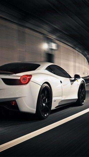 White Ferrari 458 Italia - The iPhone Wallpapers