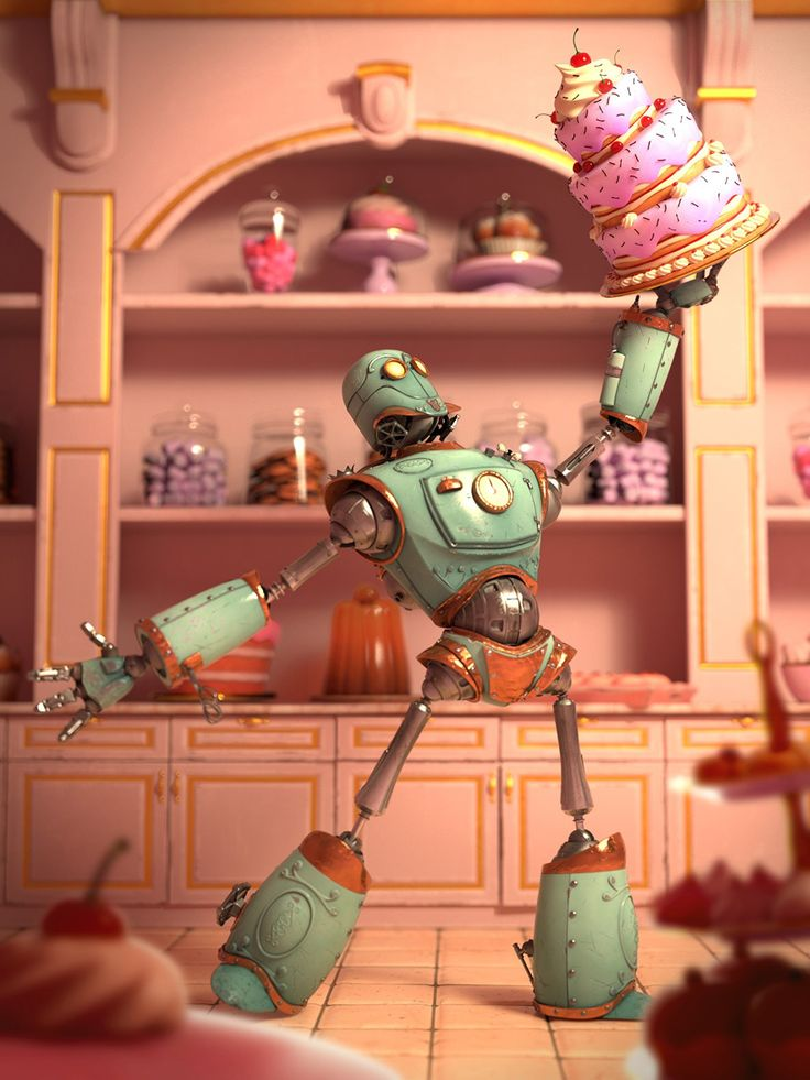 // The making 'Cakebot' by Vincent Tonelli / MARI, Maya, tutorial from 3dtotal.com