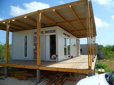 Shipping Container Tiny House in Bonaire | Tiny House Pins