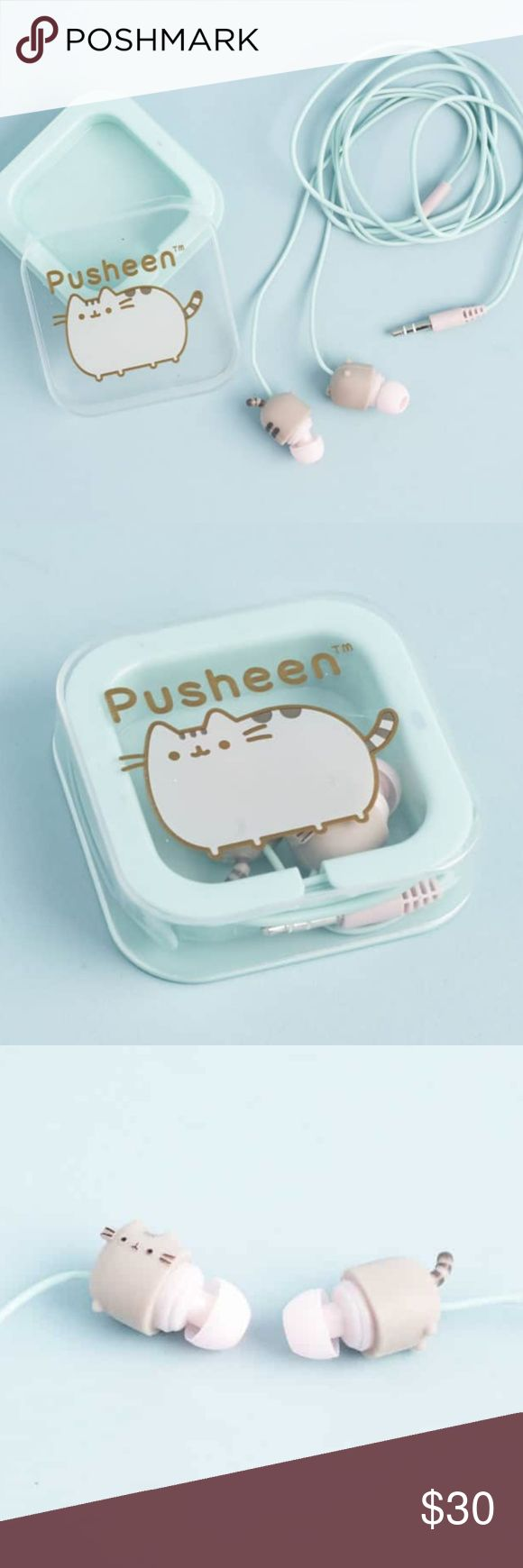 Pusheen Exclusive Headphones Exclusive headphones from summer 2017 subscription box Brand new! Cute little Pusheens on the ear buds Great holiday gift! Open to bundle Pusheen items together! Open to offers! Pusheen Accessories