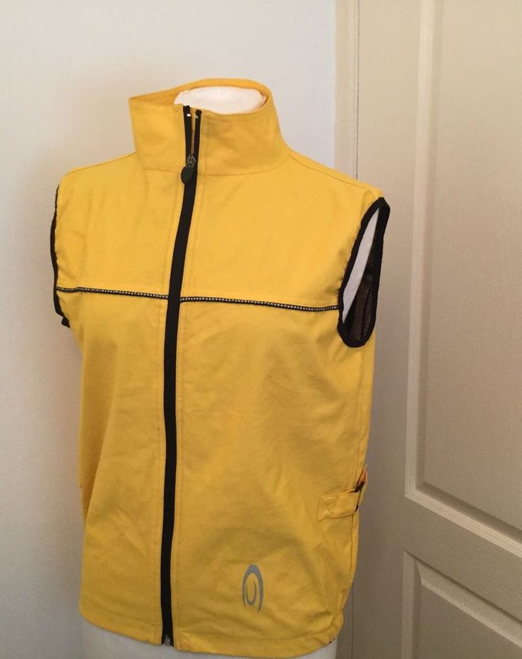 Crane Yellow Ladies Cycling Gilet sleeveless size 12 -14