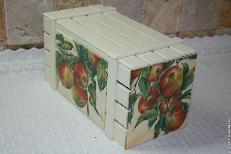 Купить Ящик для фруктов - ящик, хранение, лук, чеснок, интерьер кухни, короб для кухни