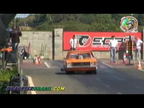 Opala V8 e Fusca turbo empinando
