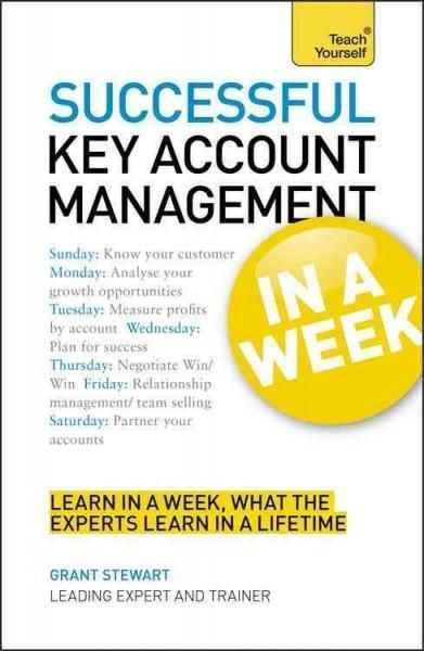 Learn to manage key accounts successfully in just seven days and advance your career Written by Grant Stewart, a leading expert on key account management as both a coach and a practitioner, Successful  - Hope you like the repin ; )