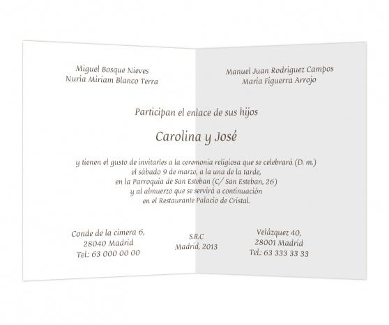 Marrón anochecido #invitaciones #boda