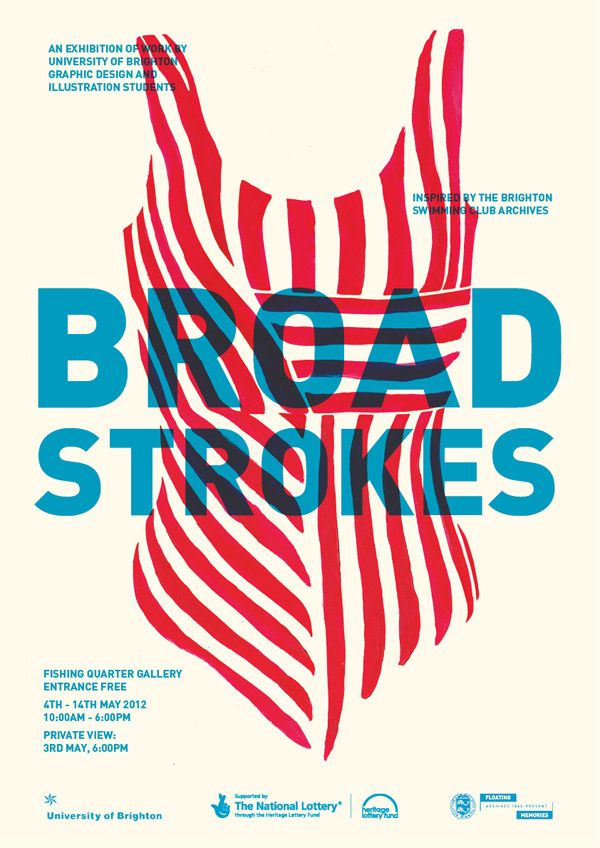 Broad Strokes by Jamie Rickett | http://blog.spoongraphics.co.uk/articles/showcase-of-designs-made-with-cool-overprint-effects