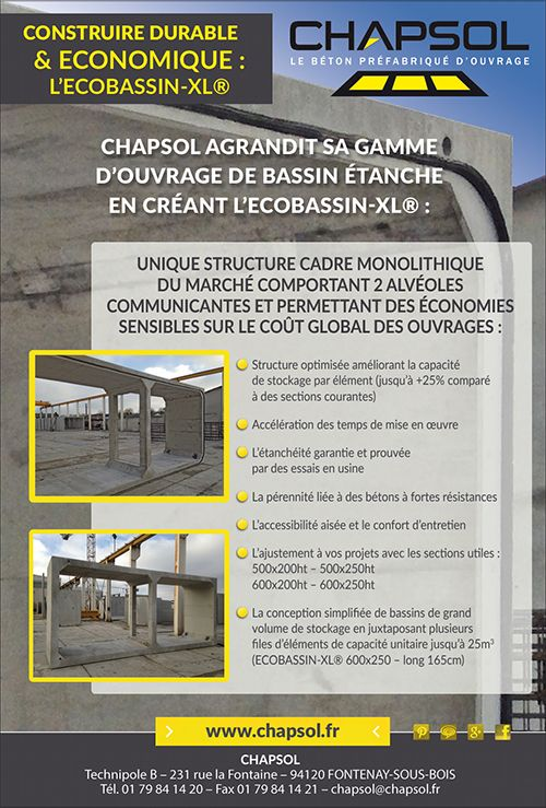 Construire durable & économique : L'Écobassin-XL par Chapsol