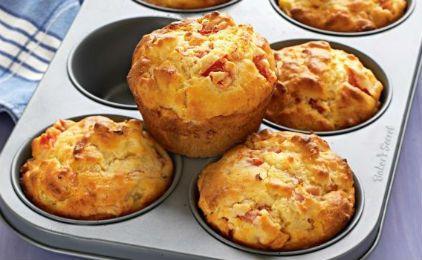 Κεκάκια με ζαμπόν και τυρί!