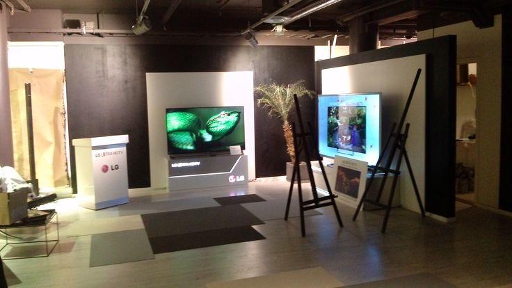 Preparing for LG OLED event in Stockholm