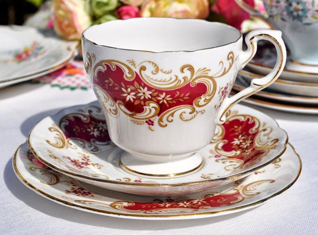Paragon Majestic Vintage China Teacup Trio 1957+ Atlas works, Longton, Staffordshire