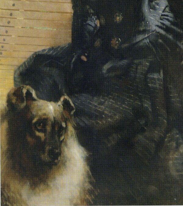 Giuseppe de Nittis  Signora col cane ( détail )