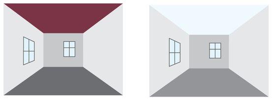 Farbwirkung � Optisch Wände versetzen 1-2-do Wissen
