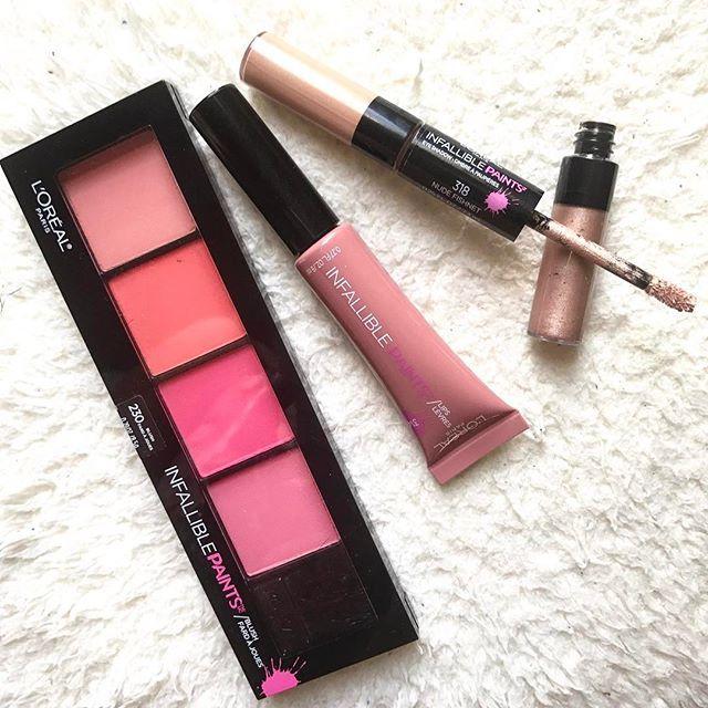 My favorites from the new L'Oreal Paris Infallible Paints collection. Such flattering, blendable colors! #makeup #beauty  Estos son mi favoritos de la nueva colección de L'Oreal Paris. Favorecen a todos los tonos de piel. #belleza #maquillaje #loreal
