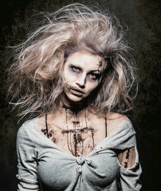 Zombie Bride hair