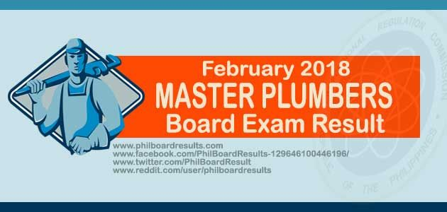Shown below is the list of top 10 examinees who successfully passed the February 2018 Master Plumbers Board Exam Result. officially released by PRC online.
