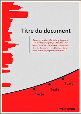 Modèles de Pages de Garde (PFE, Mémoire, Rapport de Stage) DOCX - RapportDeStage