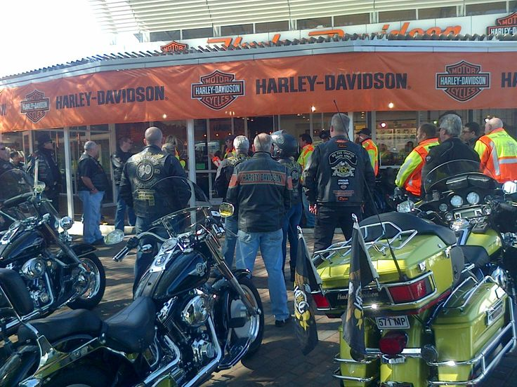 HOG Big Five Chapter discussing the route for #BreakfastRun - Big Five Harley Davidson