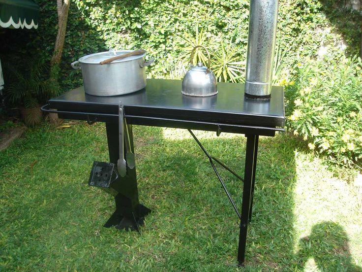 Cocina Economica-rocket-a Leña-diseño Japones-facil Traslado - $ 6.999,00