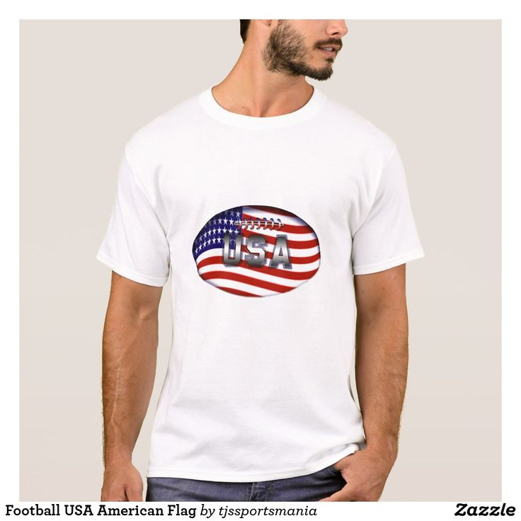 Football USA American Flag T-Shirt
