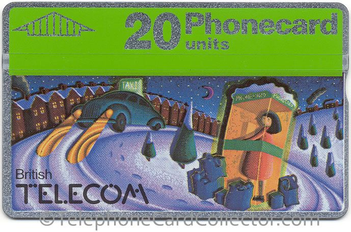 (Slightly) shifted design - Phonecards green header shifted to left, cards design shifted to right. On a perfect card the header and design would align perfectly.