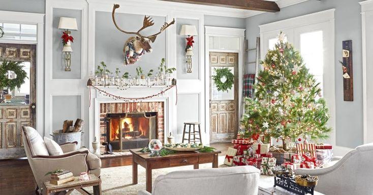 Boże Narodzenie w rustykalnym stylu, wnętrza, dom, home decor, dekoracje, aranżacje, decorations, Święta, Boże Narodzenie, Christmas, świąteczne dekoracje, styl rustykalny, vintage, rustic style