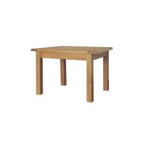 Rustic Solid Oak SRDT09 4ft x 2ft 6in Fixed Dining Table  www.easyfurn.co.uk