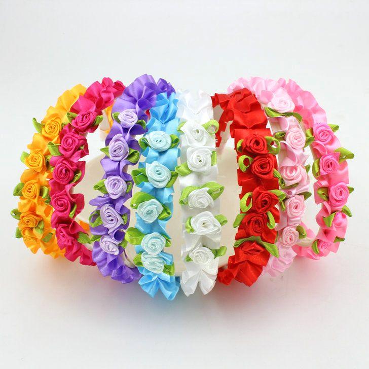 1 stks nieuwe mode meisje haar bloem band meisje hoofddeksels guirlande hoofdbanden meisje haaraccessoires