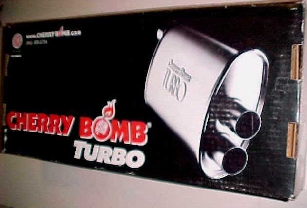 U.S.A. Cherry Bomb Turbo Muffler 2006 Model No. 16804 New in Box #Cherrybomb