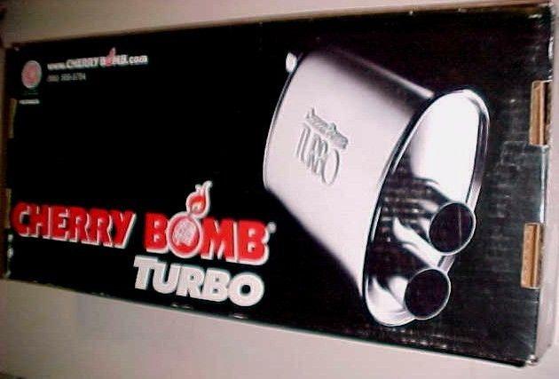 U.S.A. Cherry Bomb Turbo Muffler 2006 Model No. 16804 New in Box #Cherrybomb