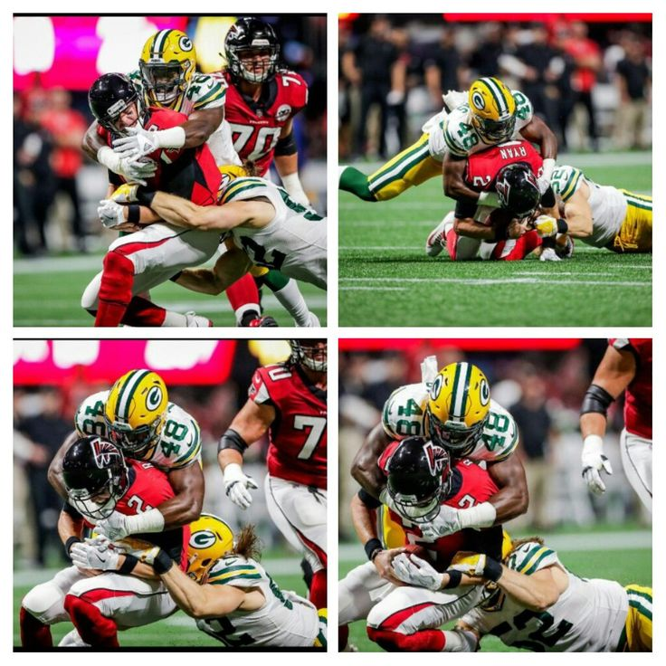 Thomas and Clay taking down Matt Ryan Packers vs Falcons