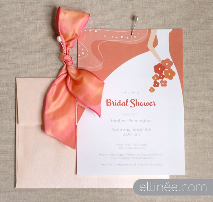 dress invite (what's with the bow?)