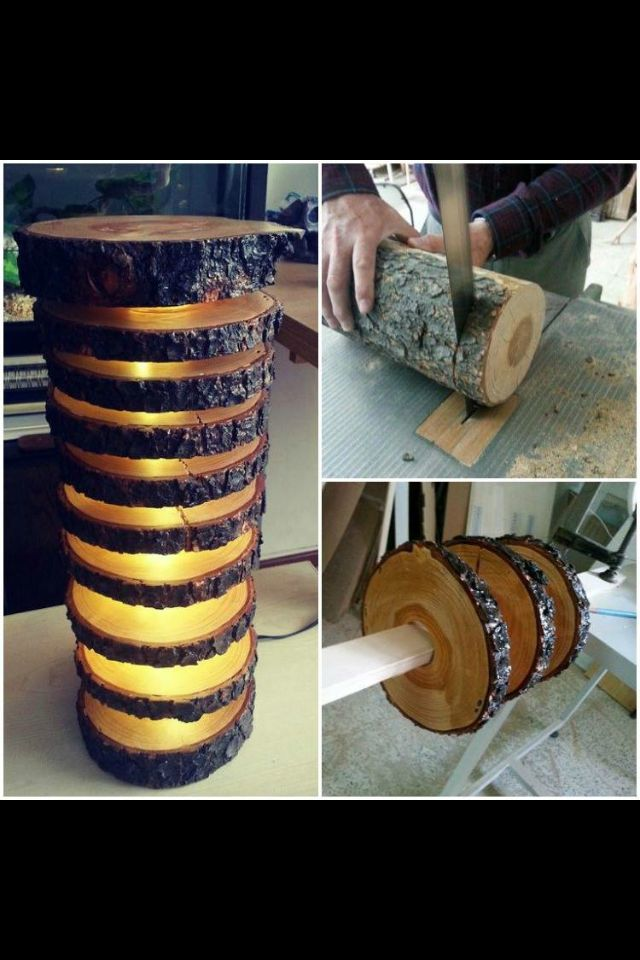 How To Make A Spectacular Lamp With Logs   Floor Lamp Recycled Lamp Wood  Lamp