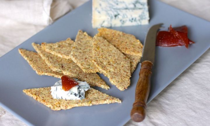 Almond, rosemary and fennel crackers - GF biscuits perfect for cheese board.