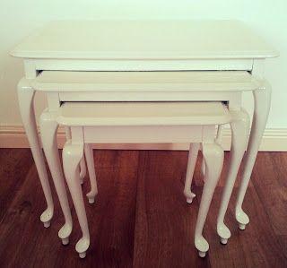 BellaMade DIY: DIY: Oude meubels opknappen bijzettafeltjes
