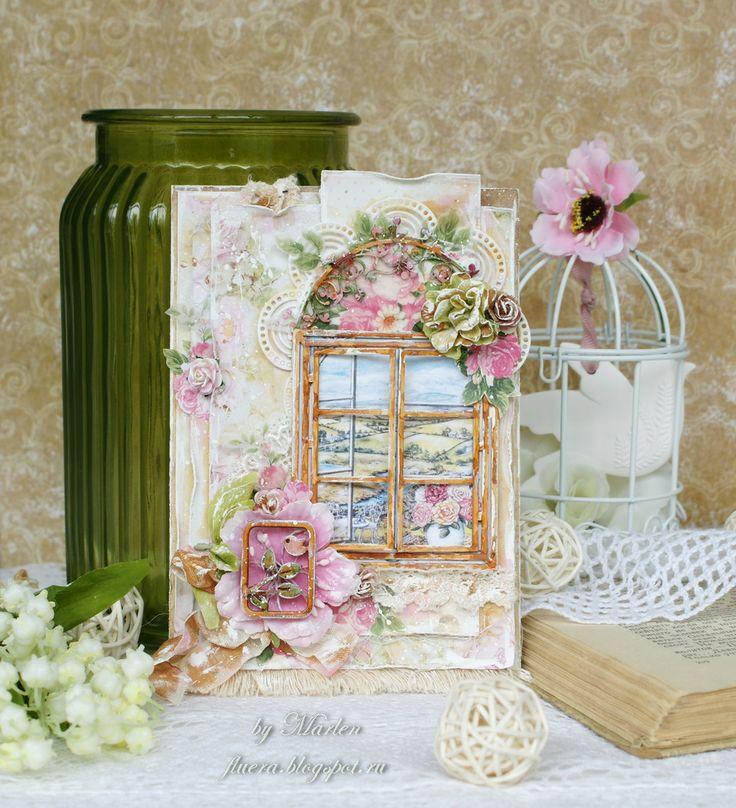 Скрапбукинг открытки с окном, анимационная днем рождения