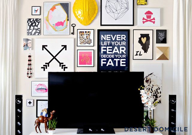 DIY Living Room Gallery Wall