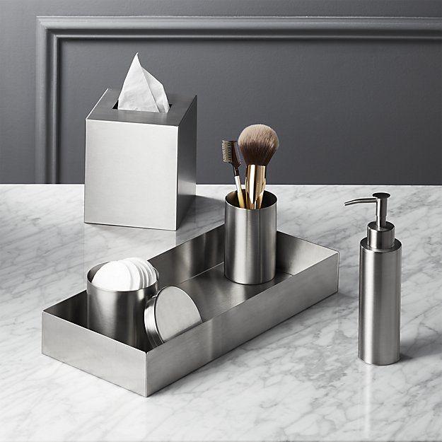 Stainless Steel Tissue Box Cover Steel Bath Modern Bathroom Accessories Bath Accessories