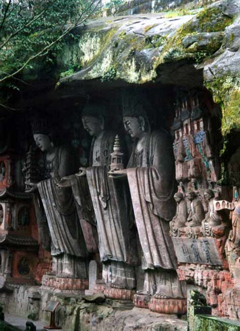 Dazu, China.  http://www.worldheritagesite.org/sites/dazurockcarvings.html