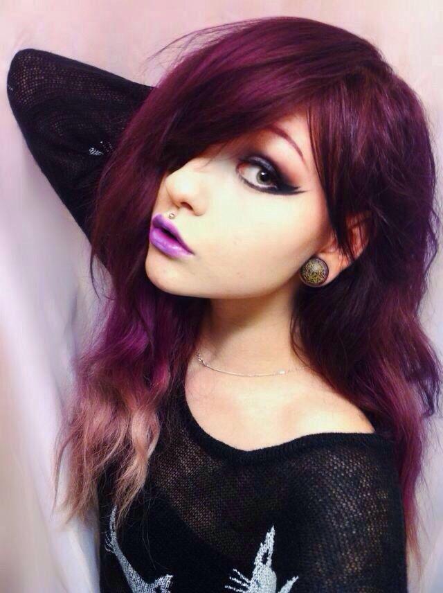 Maroon ombre hair rainbow of hair pinterest ombre hair and ombre hair - Ombre hair marron ...