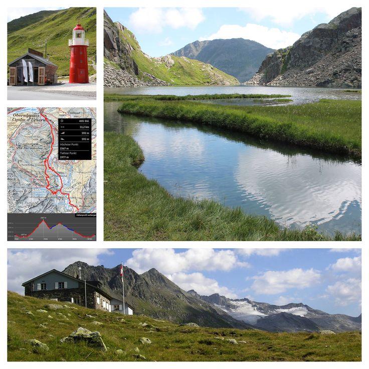 Wanderung zur Rheinquelle: Oberalppass - Tomasee - Maighelshütte - Oberalppass (4 h 30 min)