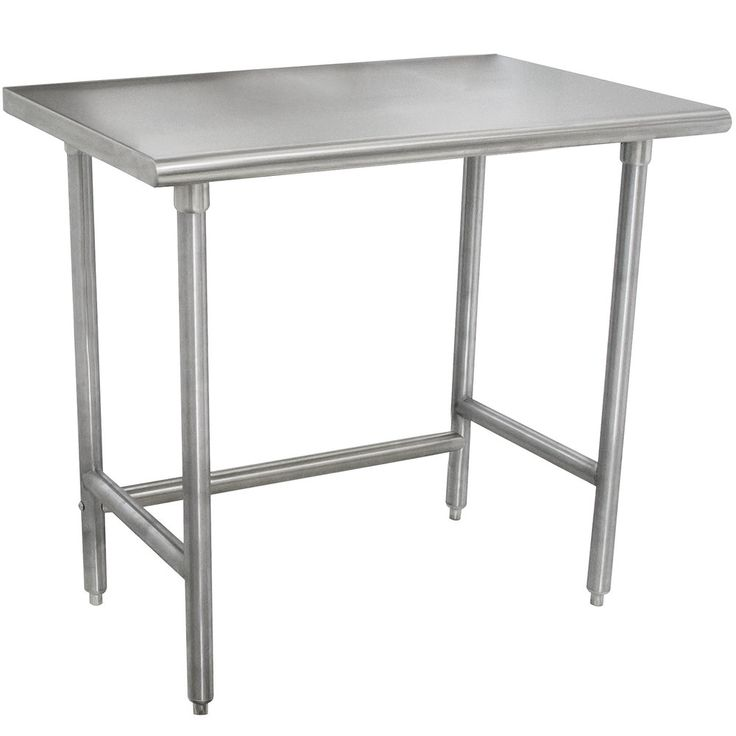 """Advance Tabco TMSLAG-240-X 30"""" x 24"""" 16 Gauge Professional Stainless Steel Work Table"""