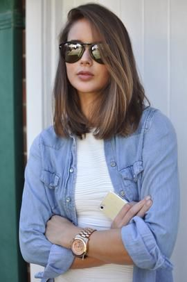 Long bob haircut - love this cut and the colour is gorgeous too!