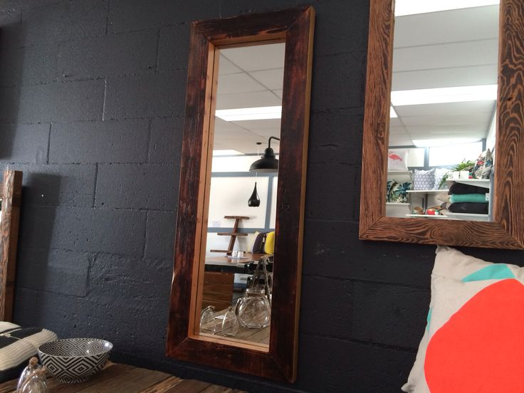 Handmade timber mirror perfect home decor