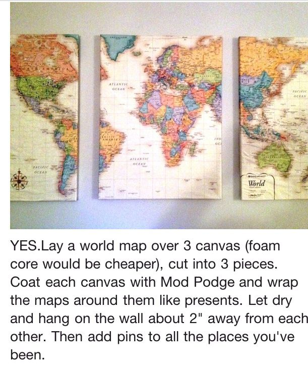 We've got globes already, but nothing says travel like a few good maps. Maps: When three dimensions are too many.