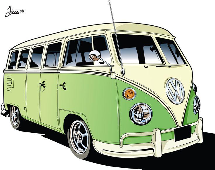 vw camper van vectorial gr fico de poca pinterest vw camper campistas y furgonetas vw. Black Bedroom Furniture Sets. Home Design Ideas