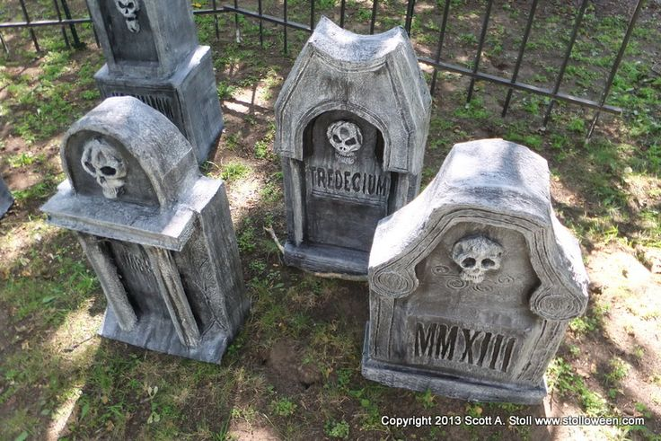 Tombstone 4 3 projects to try pinterest homemade for Cardboard halloween decorations diy