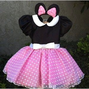 Minnie Mouse outfit princess Dress pink first 1st Birthday personalized name onesie disney baby Girl Size 3 6 9 12 18 24 m 3T 4T 5T toddler