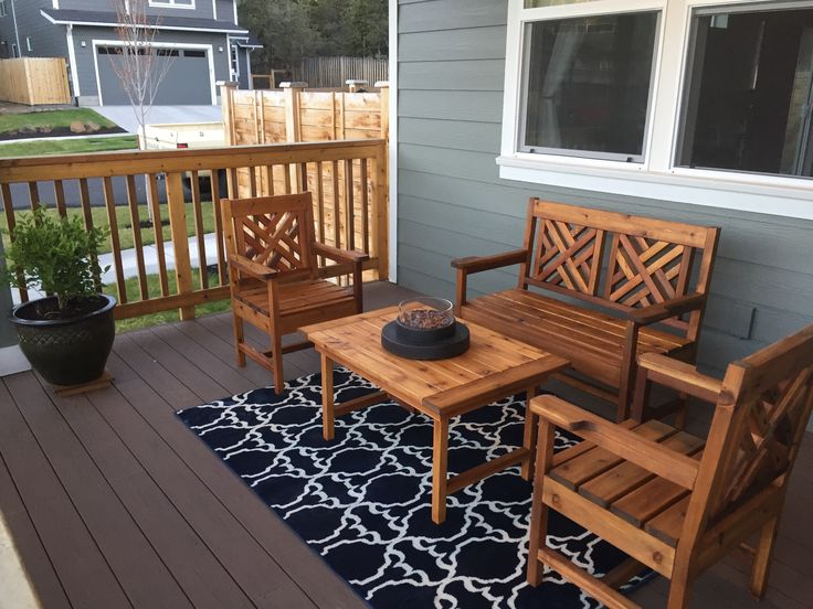 Ana White | Woven Back Bench, Chairs, Plus A Table   DIY Projects